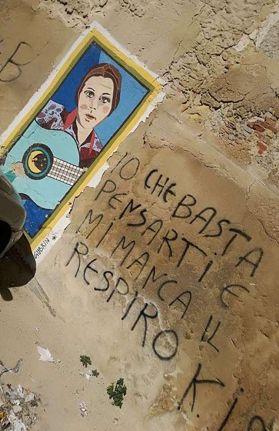 Murales nei pressi della casa di Rosa Balistreri